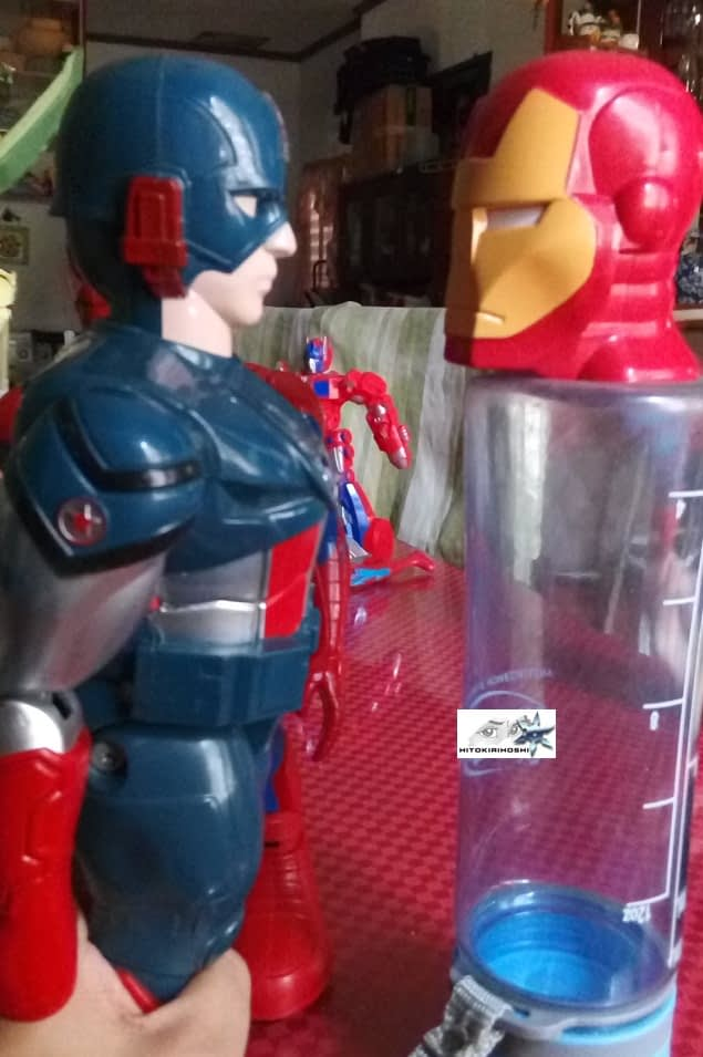 Captain America at Iron Man  toys